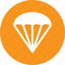 discover, fly, leisure, parachute icon