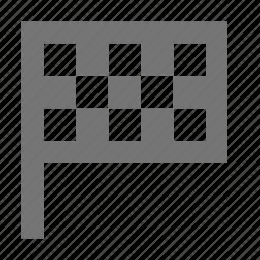 checkered flag, finishing flag, flag icon