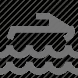 jetskii, ride, transport, vehicle, water, waves icon