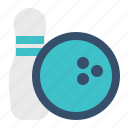 ball, bowling, pin, sport