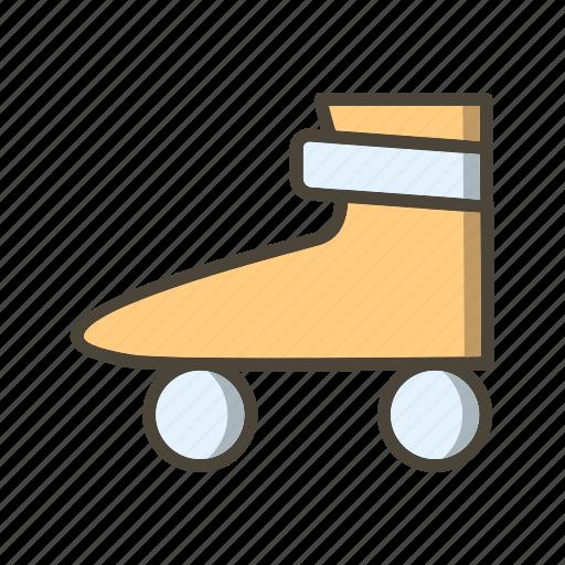 ice roller, roller skate, skating icon