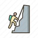 climber, climbing, mountain icon