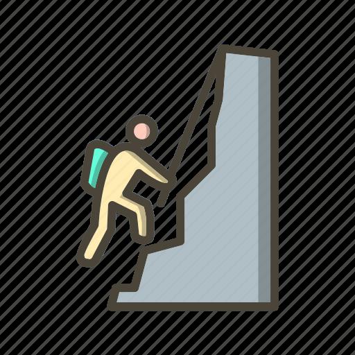 climber, climbing, mountain icon