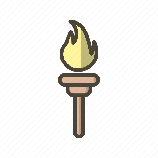 games, olympic, olympic torch icon
