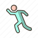 human, marathon, people, run, runner icon