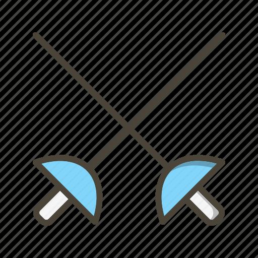 fencing, olympics, sword icon
