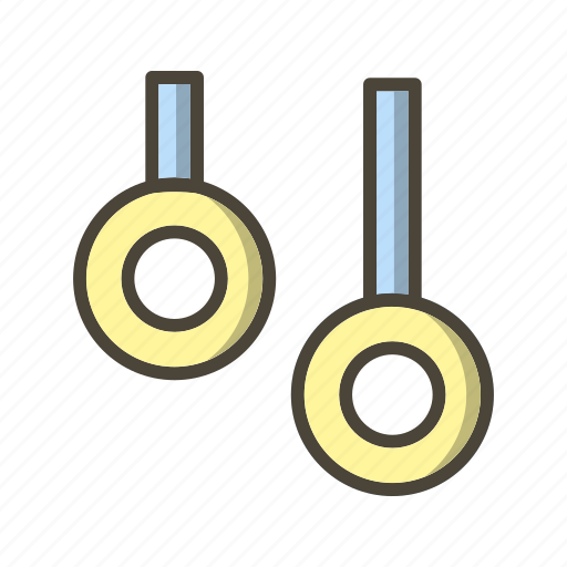 gymnastic, ring, rings icon