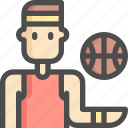 avatar, ball, basketball, man, sport, sports