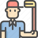 avatar, equipment, golf, hole, man, sport, sports icon