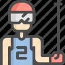 avatar, ice, man, ski, sport, sports, winter icon