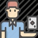 avatar, bridge, card, man, play, sport, sports icon