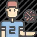 avatar, ball, man, sepak, sport, sports, takraw icon