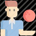 avatar, bowling, man, sport, sports