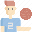 avatar, ball, man, sport, sports, volleyball icon