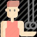 avatar, bar, gymnastics, man, sport, sports