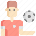 avatar, ball, football, man, soccer, sport, sports icon