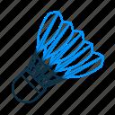 badminton, badminton cork, cock, shuttle, racket, sports, game icon