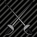 athlete, sabre, sport icon