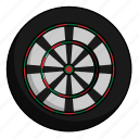 athlete, dartboard, sport icon
