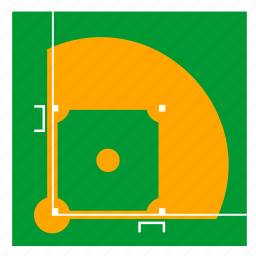 baseball, court, field, game, grass icon