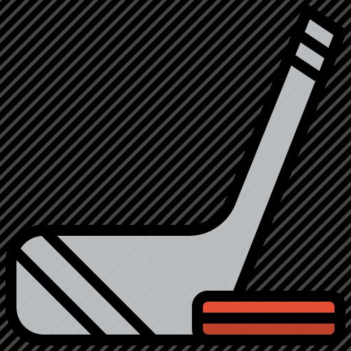 ball, equipment, hockey, sport, sports, stick icon