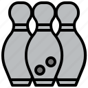 bowling, competition, fun, game, leisure, pins icon