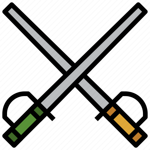 epee, fencing, foil, saber, sports, swords, weapons icon