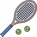 ball, equipment, game, rackets, sport, tennis, training icon