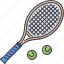 ball, equipment, game, rackets, sport, tennis, training icon
