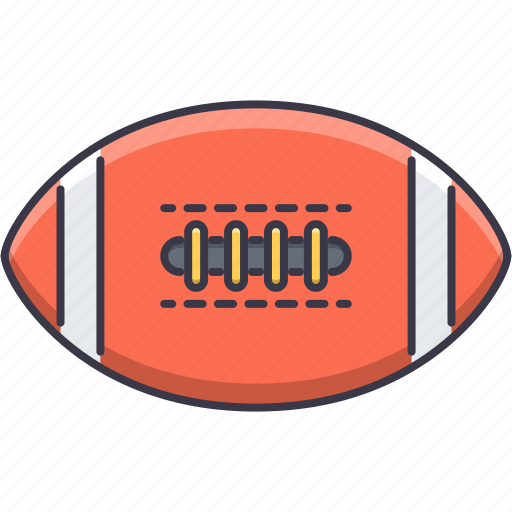 ball, equipment, game, rugby, sport, training icon