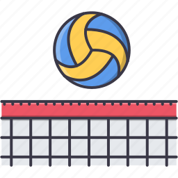 ball, equipment, game, grid, sport, training, volleyball icon