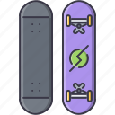 equipment, game, skateboard, sport, training icon