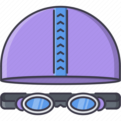 Cap, equipment, glasses, goggles, sport, swimming, training icon - Download on Iconfinder