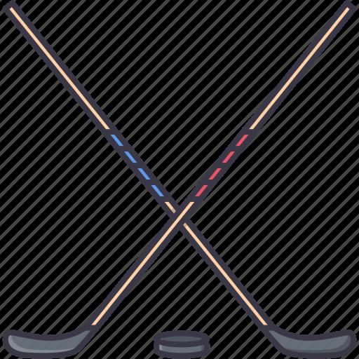 Equipment, game, hockey, puck, sport, stick, training icon - Download on Iconfinder