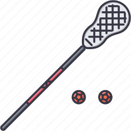 ball, equipment, game, lacrosse, sport, stick, training icon