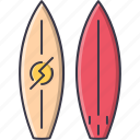 equipment, game, sport, surfboard, training icon