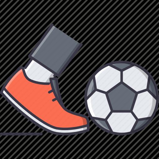 ball, boot, equipment, foot, football, leg, sport icon
