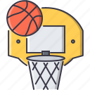 ball, basket, basketball, equipment, game, sport, training icon