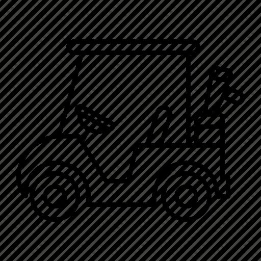 competition, golf, golf car, golf cart, golf club, sports, team sport icon