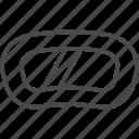 line, mask, outline, snowboard, snowboard mask, sport, winter icon