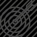 arrow, dart, darts, line, outline, sport, target