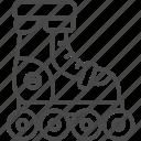 line, outline, roller, roller skates, roller skating, sport, sport item