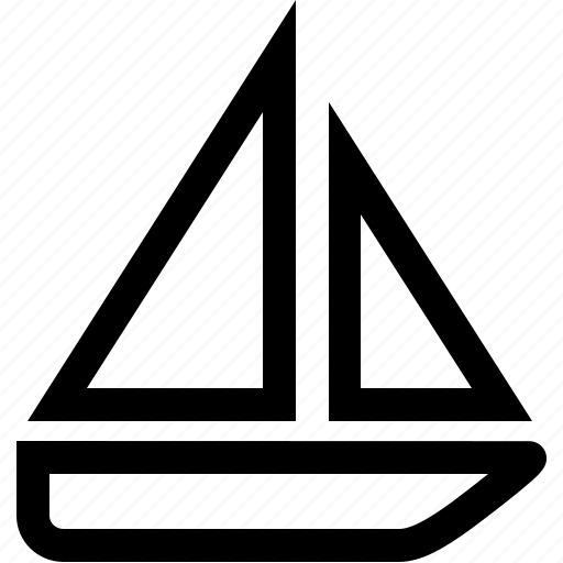 boat, lines, sailing, sport, swimm, yacht icon