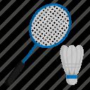 athlete, badminton, sport icon