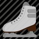 athlete, ice skating, ice skating shoes, sport icon