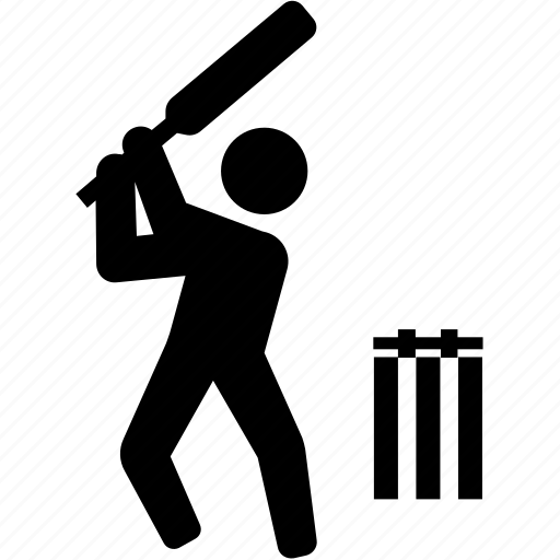 batsman, batter, cricket, cricketer, one day, test match icon