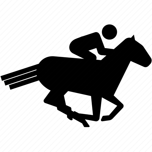 gallop, horse, jockey, race, rider, riding icon
