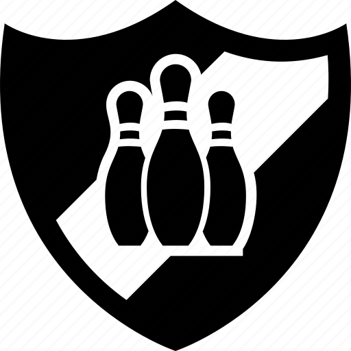 badge, ball, bowling, heraldic, shield icon