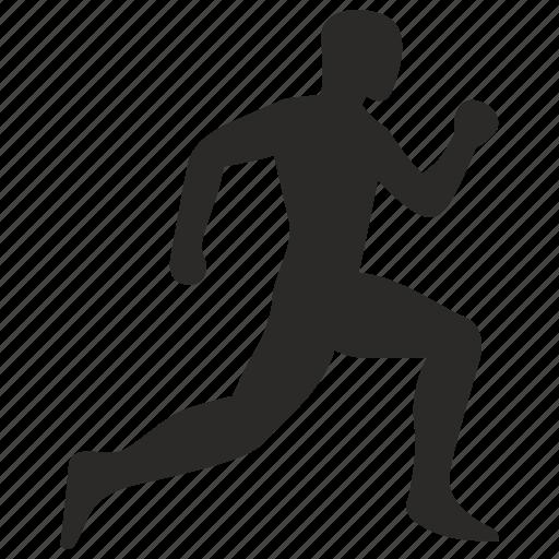 fitness, man, run, sport, training icon