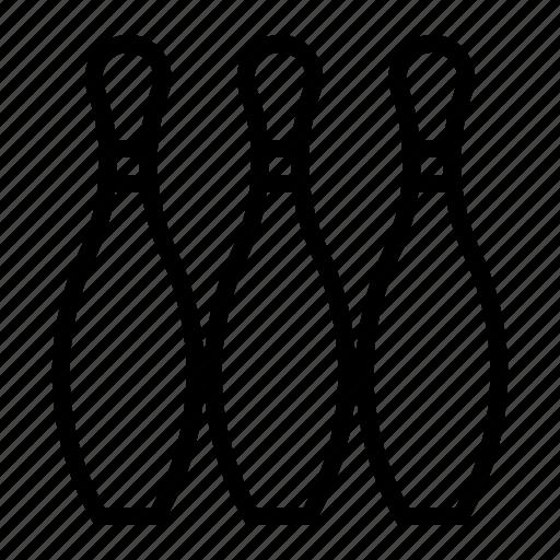 bowling, bowling pin, pin, sport, tenpin icon